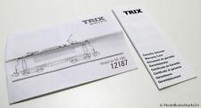 MINITRIX 12187 Beipackzettel für NS Elektrolok Serie 1800 Spur N 1:160