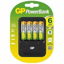 GP Powerbank PB570 AA / AAA 6 Hour Battery Charger + 4 AA Batteries