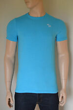 NEW Abercrombie & Fitch Classic Crew Neck Moose Tee T-Shirt Turquoise Blue L