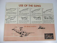 "Vintage Use of Gun Sling Training NRA Hunting Safety Poster 22"" x 17"""