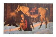 Arnold Friberg  the 'Prayer at Valley Forge' limited edition print