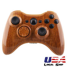 Mods Wooden Grain Hydro Dipped Shell Mod Parts for Xbox 360 Controller