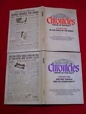 1970 ~ CHRONICLES NEWS OF THE PAST ~ VOLUME 1 & 2 / IN THE DAYS OF THE BIBLE