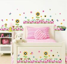Wall stickers flower border kids baby room Art Kids Nursery Decal removable