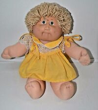 "Cabbage Patch Kids Doll Vintage 1982 18"" Blonde Short Hiar Green Eyes"