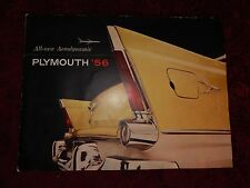 1956 Plymouth Sales Brochure Folder Belvedere Savoy Plaza Excellent Original 56