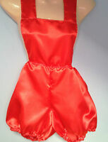 red satin pants romper pantaloons french maid cosplay sissy adult baby  32-42