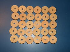 "30 CORK RINGS 1 1/4""X1/2""  BORE 1/4""  FLOR BLACK STAINS - FREE SHIP!!!!"