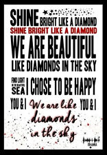 -A3 Size - RIHANNA LYRICS - Song  Music Art Poster - #11