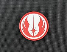 3D PVC Jedi Morale Patch Star Wars Rogue One Galactic Republic VELCRO® Brand Red