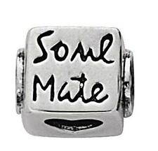 *New* Rhona Sutton 925 sterling silver Soulmate love heart cube charm bead