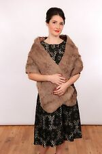 Beautiful elegant vintage grey rabbit / Mink Stole wrap evening wear