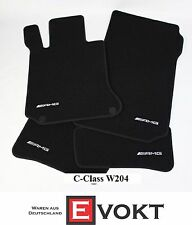 Mercedes-Benz AMG Anthracite Velour C-Class W204 Floor Mats Set Genuine New