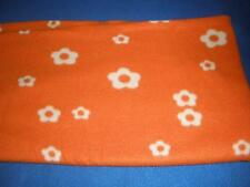 LOVELY  BABY COT BLANKET POLYESTER ORANGE PATTERNED