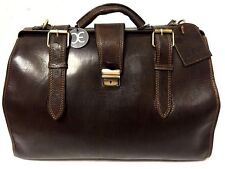 Handmade Genuine Leather Rugged Travel Doctor DR Bag Luggage in Brown