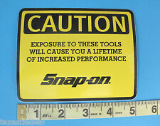 Genuine Official Snap On Tools Logo Decal CAUTION EXPOSURE TO THESE TOOLS - NEW