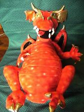 """LARGE RED DRAGON  HAND PUPPET  BY PUPPET COMPANY  37"""" HIGH APPROX"""