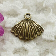 Free Ship 84 pieces bronze plated conch charms 17x15mm #189