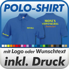POLO SHIRT, royal, Fruit of the Loom, inkl. Wunschtext / Logo Druck Werbedruck