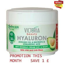 Hyaluronic Acid Matrixyl Avocado Oil antiwrinkle Day Night Cream Victoria Beauty