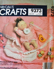 McCalls 9373 763 Stuffed  Rag Enchanted Friends Baby Doll Pattern Puppet