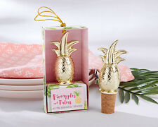 1 Gold Pineapple Wine Bottle Stopper Wedding Gift Reception Drink Party Bridal