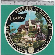 J143 FROMAGE CAMEMBERT LES VEYS MANCHE ISIGNY SUR MER CALVADOS  PETIT 230 GR.