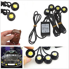 6000K White LED Hawkeye Car Truck Front Grill Strobe Light DRL Reverse Lamp 4in1