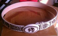 Mexican Charro Saddle Belt With Buckle Piteado Caballo