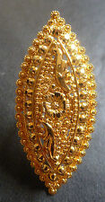 22K Gold Plated Indian Designer Adjustable Bridal Finger Ring Jewelry Hot Sale//