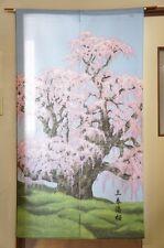 """Cosmos noren(Japanese curtain) """"Miharu Takizakura"""" waterfall cherry blossom"""