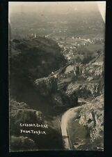 Somerset CHEDDAR Gorge from the air early Aerial c1930/40s? RP PPC