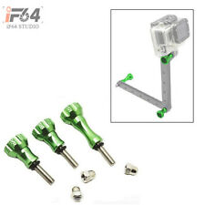 Aluminum Thumb Knob Stainless Bolt Nut Screw Set for GoPro HD Hero 2 / 3 (green)