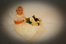 """Unusual Ivory Christening Gown - """"Constance"""""""