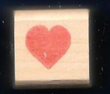 HEART Solid Shape Love MINI NEW Wood Mount Hobby Craft RUBBER STAMP