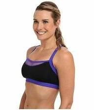 JOSIE AMP'D SPORTS TANK BRA BRALETTE #847170 BLACK PURPLE SIZE 34 B / C NEW $48