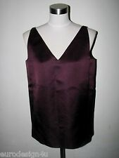NWT LANVIN PARIS 100% SILK EGGPLANT BULKY TOP sz F-36/US-4 made in France