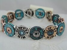 45 Automatic Shell Stretch Bracelet Green Gold Silver Copper Fashion Jewelry New