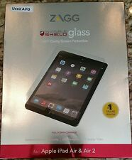 ZAGG InvisibleShield HD Glass for Apple iPad Air & iPad Air 2 ID5GLS-F00 GOOD FB