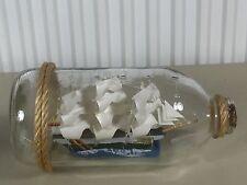 Bateau bouteille ancien maquette marine, curiosité BOAT IN THE BOTTLE