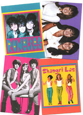 4 SHANGRI LAS & RONETTES POSTCARDS. 60's pop, girl groups.