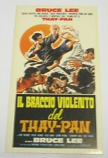 "VECCHIO ADESIVO /Old Sticker _Film ""THAY-PAN"" BRUCE LEE (cm 7x12)"