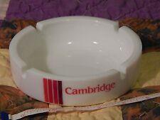 CAMBRIDGE_Philip Morris_Cigarette (MILK GLASS ASHTRAY) Barware_Tobacciana - Vtg.