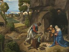 GIORGIONE ITALIAN ADORATION SHEPHERDS OLD ART PAINTING POSTER PRINT BB5505A