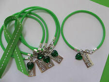 5-'HOPE HEART' LYMPHOMA/LIVER/ OR BLADDER CANCER  AWARENESS BRACELETS
