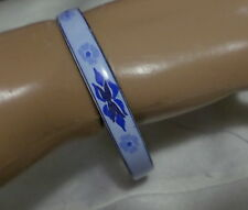 ELIOT EMAUX PARIS ENAMEL BRACELET TWO SHADES OF BLUE ENAMEL