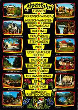 Alpenfahrt , Füssen bis Garmisch-Partenkirchen ,.ungelaufene AK