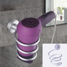 New Spiral Blow Hair Dryer Stand Flat Holder Wall Mounted Hang Holder Organizer