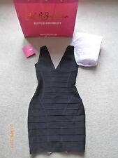 CELEB BOUTIQUE / HOUSE OF CB Black Caged Bandage Bodycon Dress BNWT - UK 8-10 /S