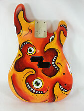 Replacement Guitar Body for Fender P Bass - Hand Painted - Original Art
